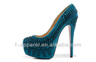 ladies sheepskin high heel pointed crystal dress shoes