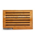 Wooden Slotted Bread Cutting Board With Knife