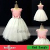 2012 Fashion design lovely sleeveless flower girl dresses