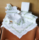 Christmas embroidery design table linen: bread box,tissue box cover,table topper,Hot roll cover,gift bag