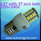 E27 Spot light 6000K high bright white 220v -240v wih 27 pcs 5050 leds