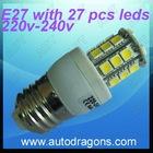 E27 Spot light 6000K high bright white 220v -240v wih 27 pcs 5050 leds