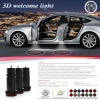 3D car welcome light Car Projection logo Door Step Laser Shadow LED Light for Mitsubishi