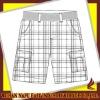 men washed shorts
