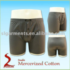 Double mercerized cotton knitted mens underwear