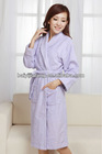 womens solid pink color bathrobe cotton