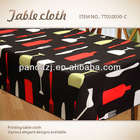 100% polyester printed water proof table cloth printing nappe
