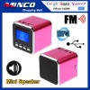 Digital Prtable Speaker Mini Speaker MP3 Player USB Disk Micro SD TF Card FM Radio Line In/ Out Sound Box