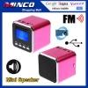Digital Prtable Speaker Mini Speaker MP3 Player USB Disk Micro SD TF Card FM Radio Line In/ Out Sound Box