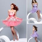 2010 newest style X-2032 zhenzhen organza lace prom dress
