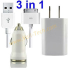Mini 3 in 1 charger for iPhone 4 iPhone 4S /iPhone 3gs(US Plug)