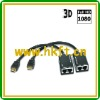 HDMI Extender by Cat5e/6 with Pigtail (30M)