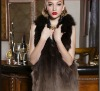 The whole skin quality fox wool fur coat
