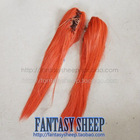 FANTASY SHEEP fashionable design common use synthetic cosplay curly wig red hair extension wig