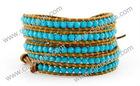 New Design Leather Wrap Beaded Bracelet