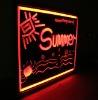led illuminated menu board for restaurant
