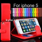 Credit card newest design wallet case stand case for iphone 5