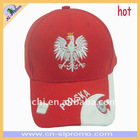 Cotton Flag Cap With Poland Flag Design