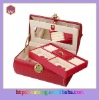 Red luxury leather jewelry box