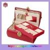 Red luxury leather jewelry box
