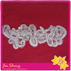 popular chiffon fabric flower lace trim,use for dress decoration