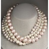 Sterling Silver Four Strand South Sea Shell Pearl Necklace