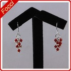 Wholesale 2-3mm red coral charming dangle fashion earring