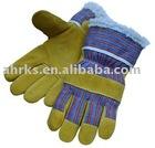 Pig Split Leather Winter Working Gloves