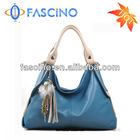Tassel Genuine Leather Fashionable Bag Available in Blue