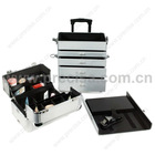 Aluminum cosmetic case makeup rolling case ND4