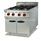 Gas cooking Range with 4 burners with cabinet