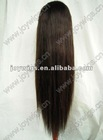 Customzied 2# 22inch Silky Straight Brazilian Virgin Hair Full Lace Wig paypal acceptable
