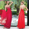 Sweetheart Neckline Beaded Bodice Floor Length Chiffon Simple Design Party Dress