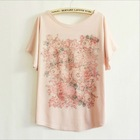 Cotton pink short sleeve t shirt wholesale China