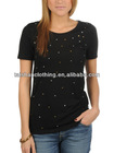 2013 fashion ladies' beaded t-shirts