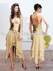 2011 New sexy gold prom dress p1086