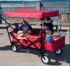 folding beach wagon cart
