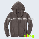 Spring & Autumn hoodies sweatshirt, dark grey couples hoodies, wholesale hoodies with zipper and pocket
