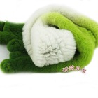 lovely fashion knitted rex rabbit fur winter muffler
