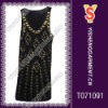 Fashion beaded top, fashion top, lady top with sexy designs and beautiful styles