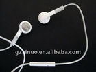 high quality white handsfree earphone for iphone 3G 4G 4GS