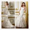 Goingwedding ruffle skirt white bling mermaid wedding dresses with long train 2013 MR048