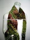 silk viscose burn out velvet scarf