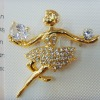 fashion rhinestone human art brooch jewelry