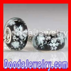 2012 European Snowflake Glass Christmas Beads bulk for Charm Bracelet Jewelry