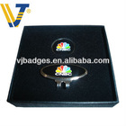 CNBC golf cap clips with ball markers