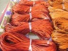 orange leather cords for jewelry