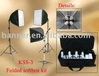 Folded Softbox photo studio kit