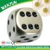 2012 hottest engraved custom metal dice