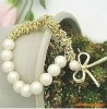 korea newest fashion bow pearl bracelet